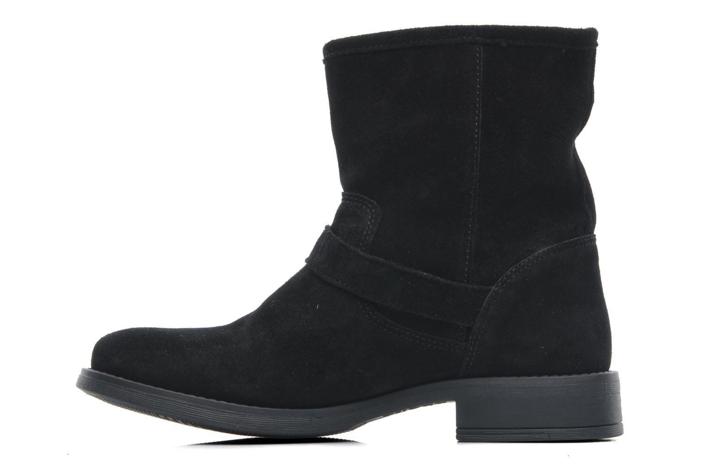 Bottines et boots Pieces Iza Suede Zipper Boot Noir vue face