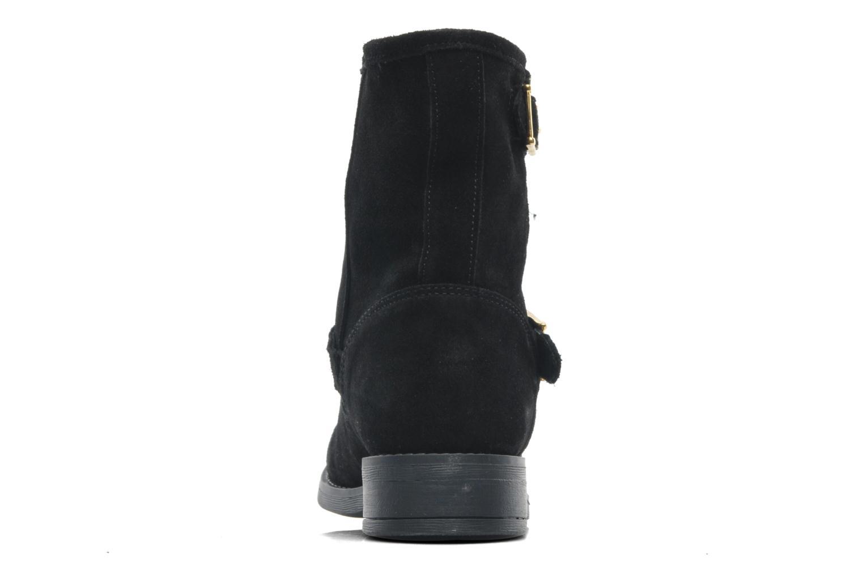 Bottines et boots Pieces Iza Suede Zipper Boot Noir vue droite
