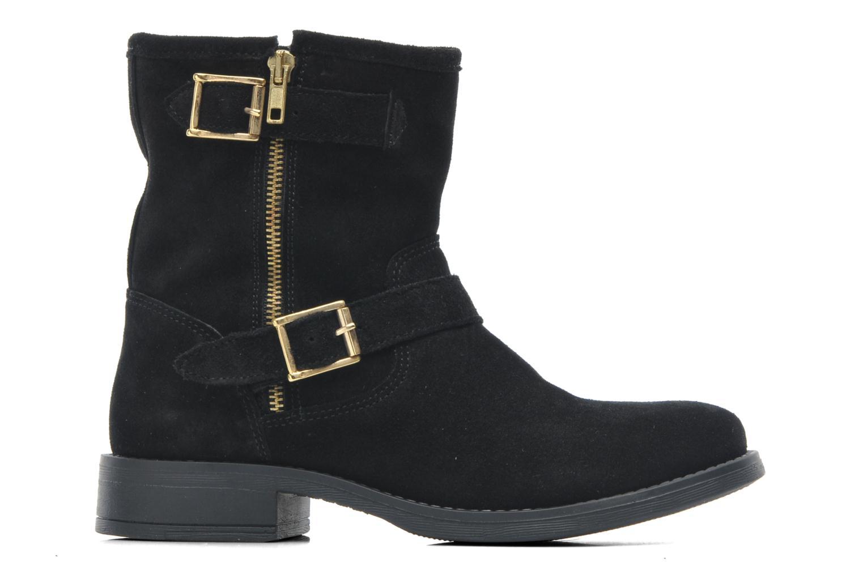 Bottines et boots Pieces Iza Suede Zipper Boot Noir vue derrière