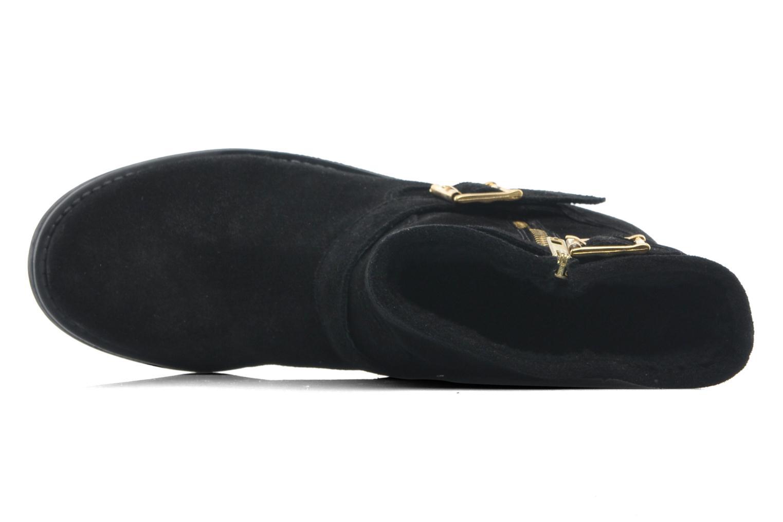 Stiefeletten & Boots Pieces Iza Suede Zipper Boot schwarz ansicht von links