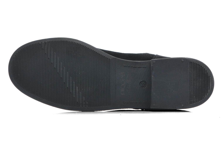 Stiefeletten & Boots Pieces Iza Suede Zipper Boot schwarz ansicht von oben