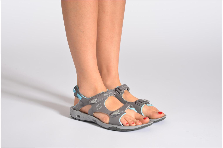Sandalen Columbia Sunbreeze vent grau ansicht von unten / tasche getragen