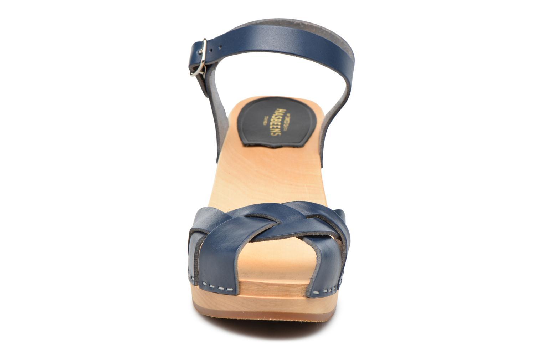 Sandales et nu-pieds Swedish Hasbeens Kringlan Bleu vue portées chaussures