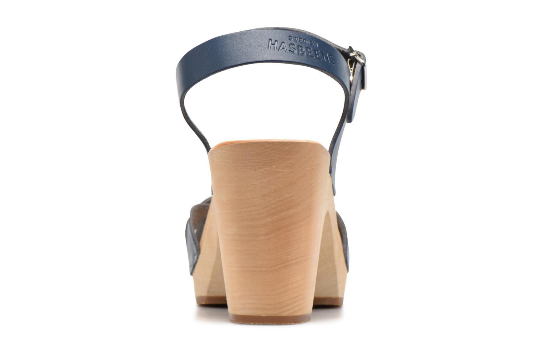 Sandales et nu-pieds Swedish Hasbeens Kringlan Bleu vue droite
