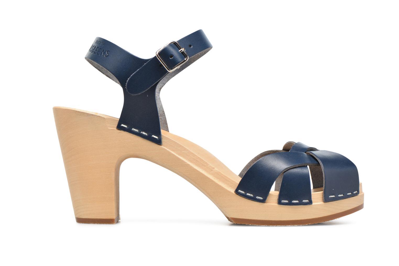 Sandales et nu-pieds Swedish Hasbeens Kringlan Bleu vue derrière