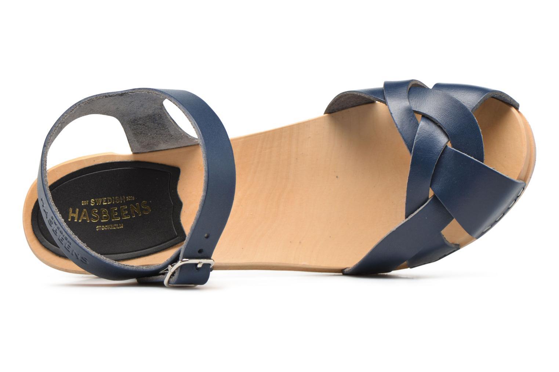Sandales et nu-pieds Swedish Hasbeens Kringlan Bleu vue gauche