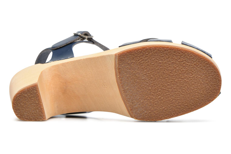 Sandales et nu-pieds Swedish Hasbeens Kringlan Bleu vue haut