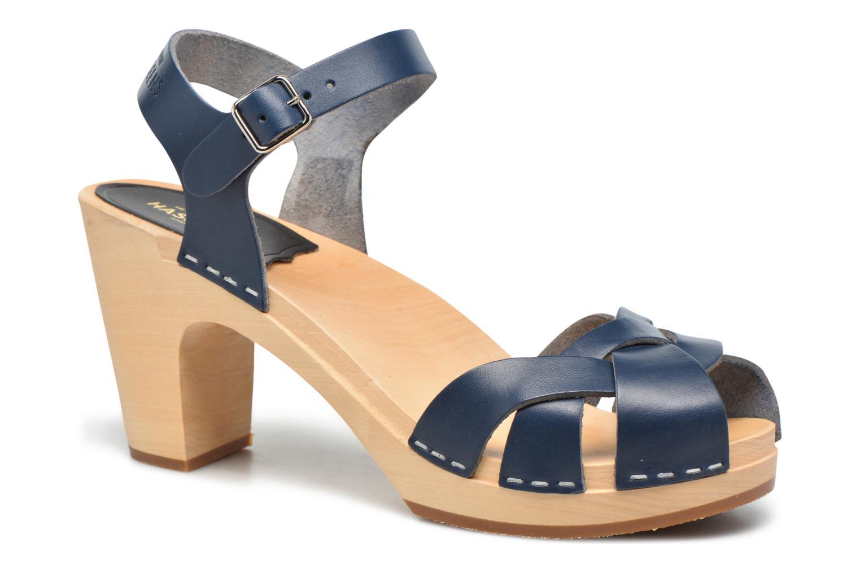 Sandales et nu-pieds Swedish Hasbeens Kringlan Bleu vue détail/paire