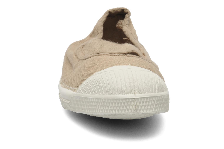Baskets Bensimon Tennis New Banner E Beige vue portées chaussures