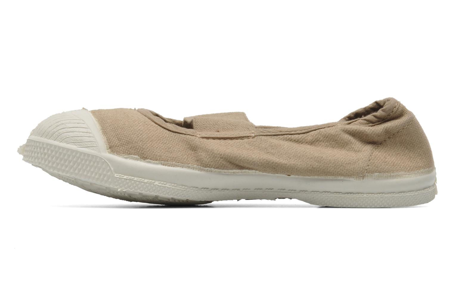 Baskets Bensimon Tennis New Banner E Beige vue face