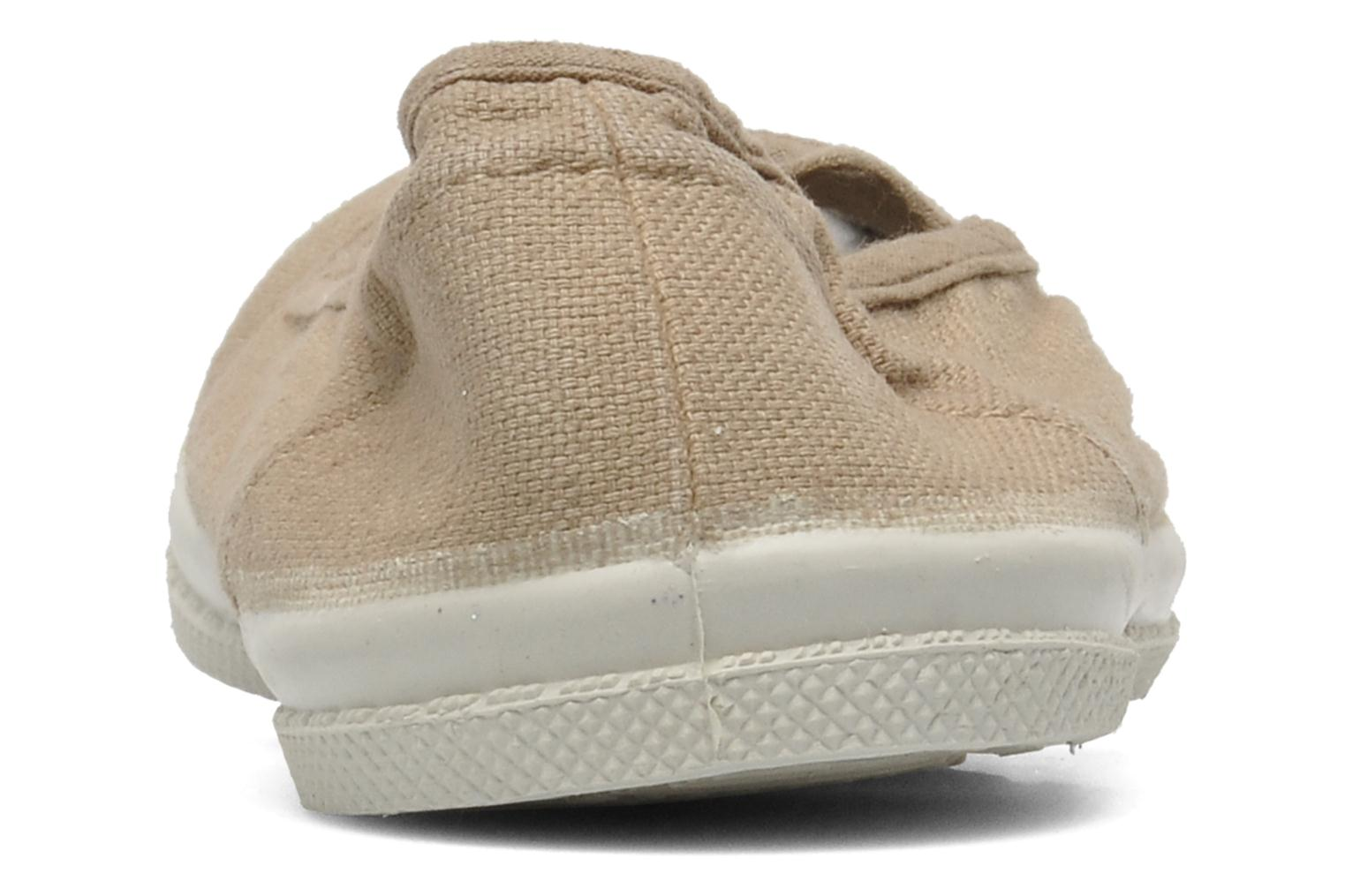 Baskets Bensimon Tennis New Banner E Beige vue droite