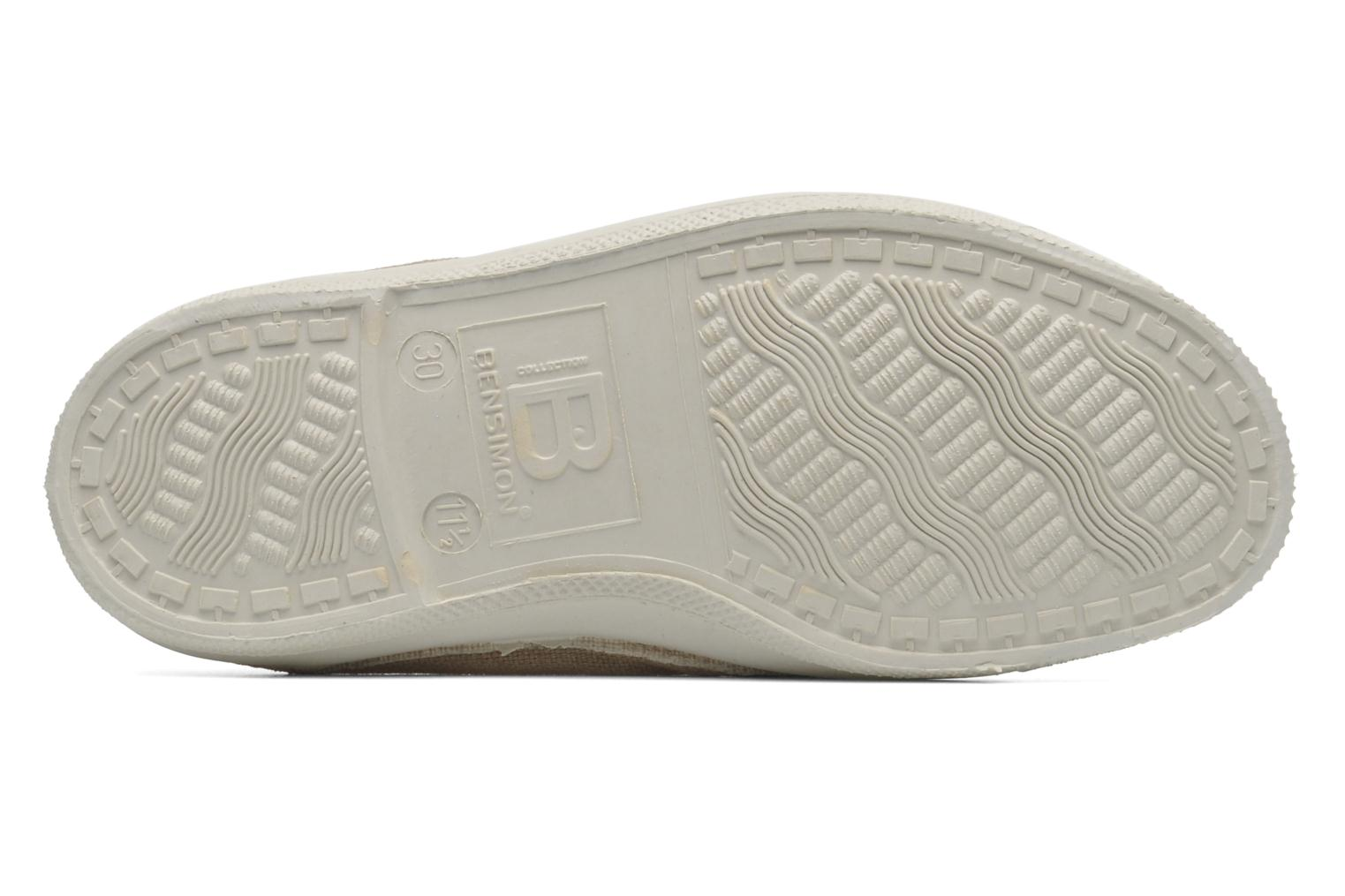 Trainers Bensimon Tennis New Banner E Beige view from above