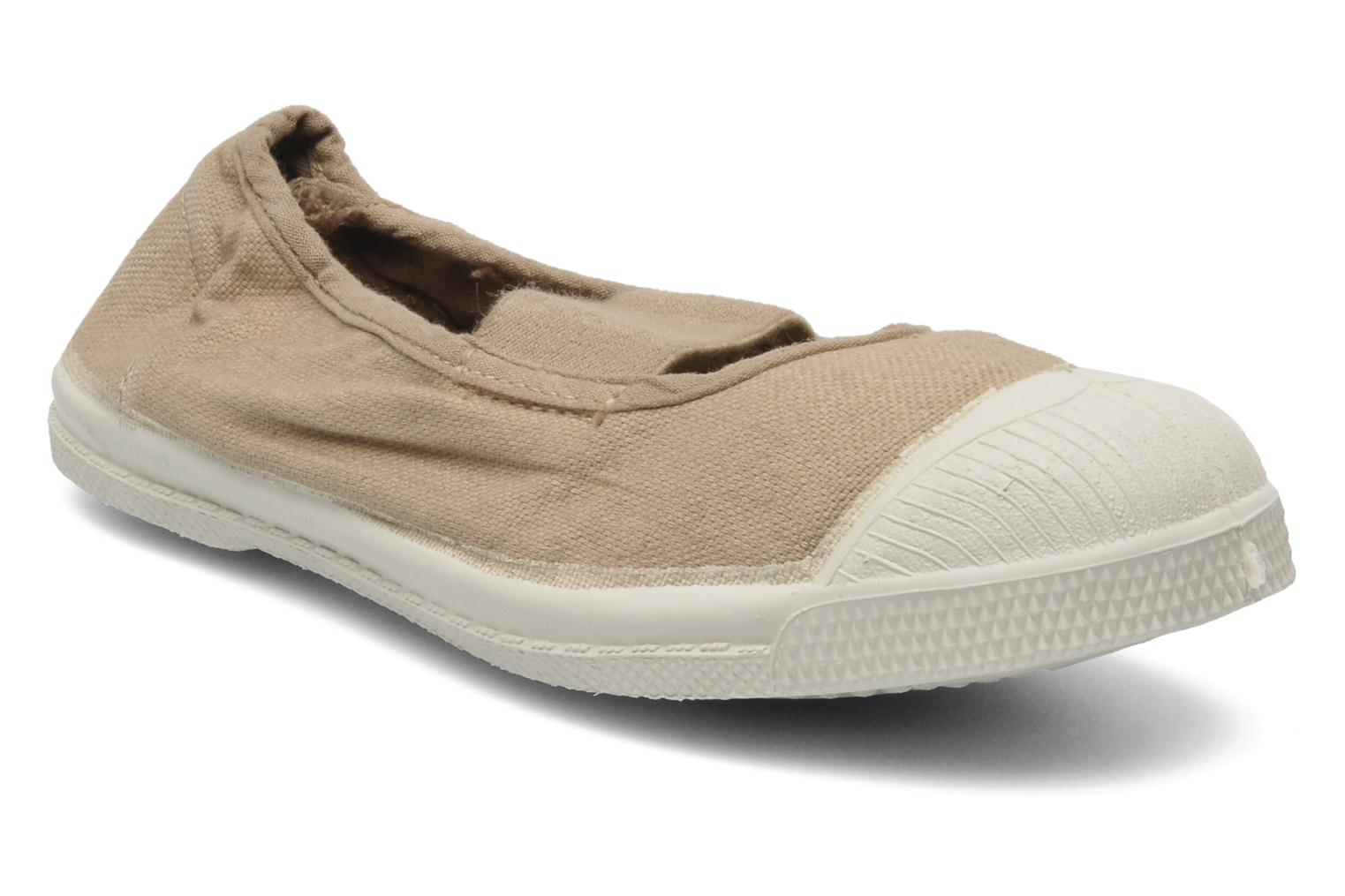 Baskets Bensimon Tennis New Banner E Beige vue détail/paire