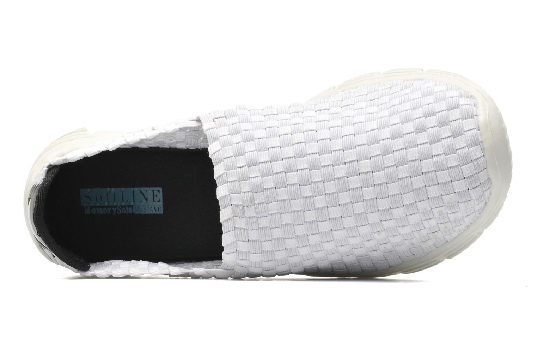 Sneaker Mustang shoes Jalur weiß ansicht von links