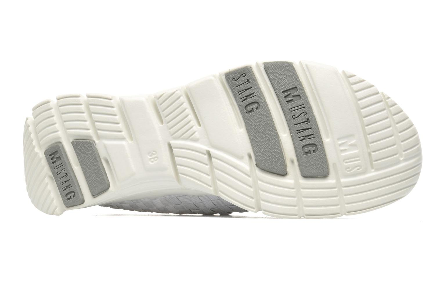 Baskets Mustang shoes Jalur Blanc vue haut