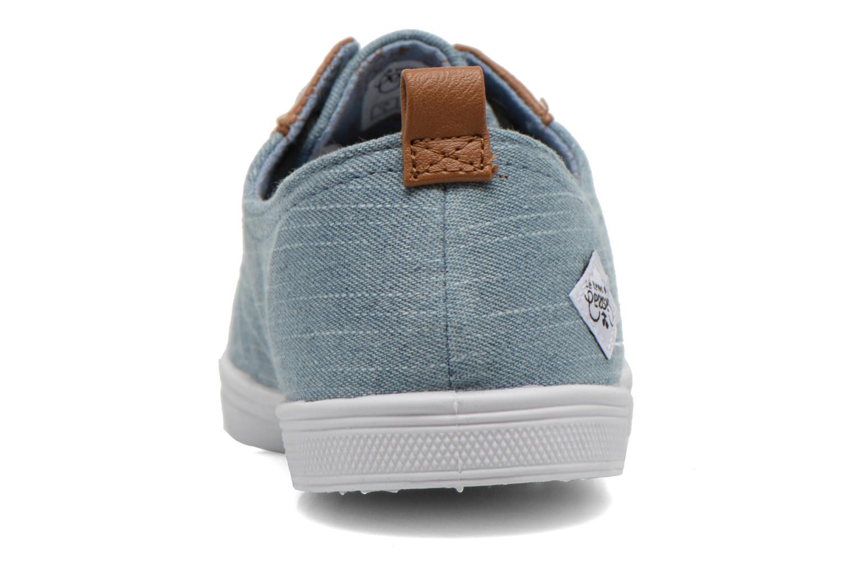 Sneakers Le temps des cerises Basic 02 Fancy Blauw rechts