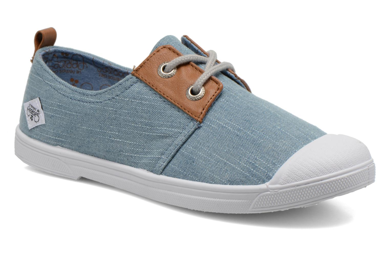 Sneakers Le temps des cerises Basic 02 Fancy Blauw detail