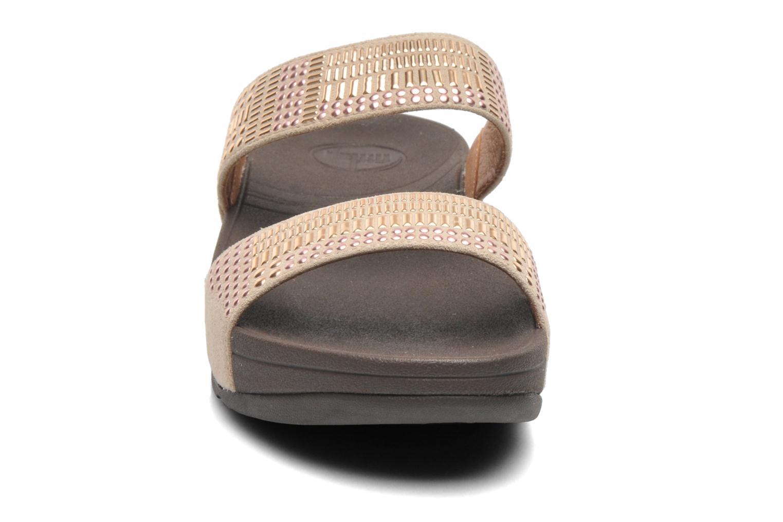 Clogs & Pantoletten FitFlop Aztek Chada Slide beige schuhe getragen