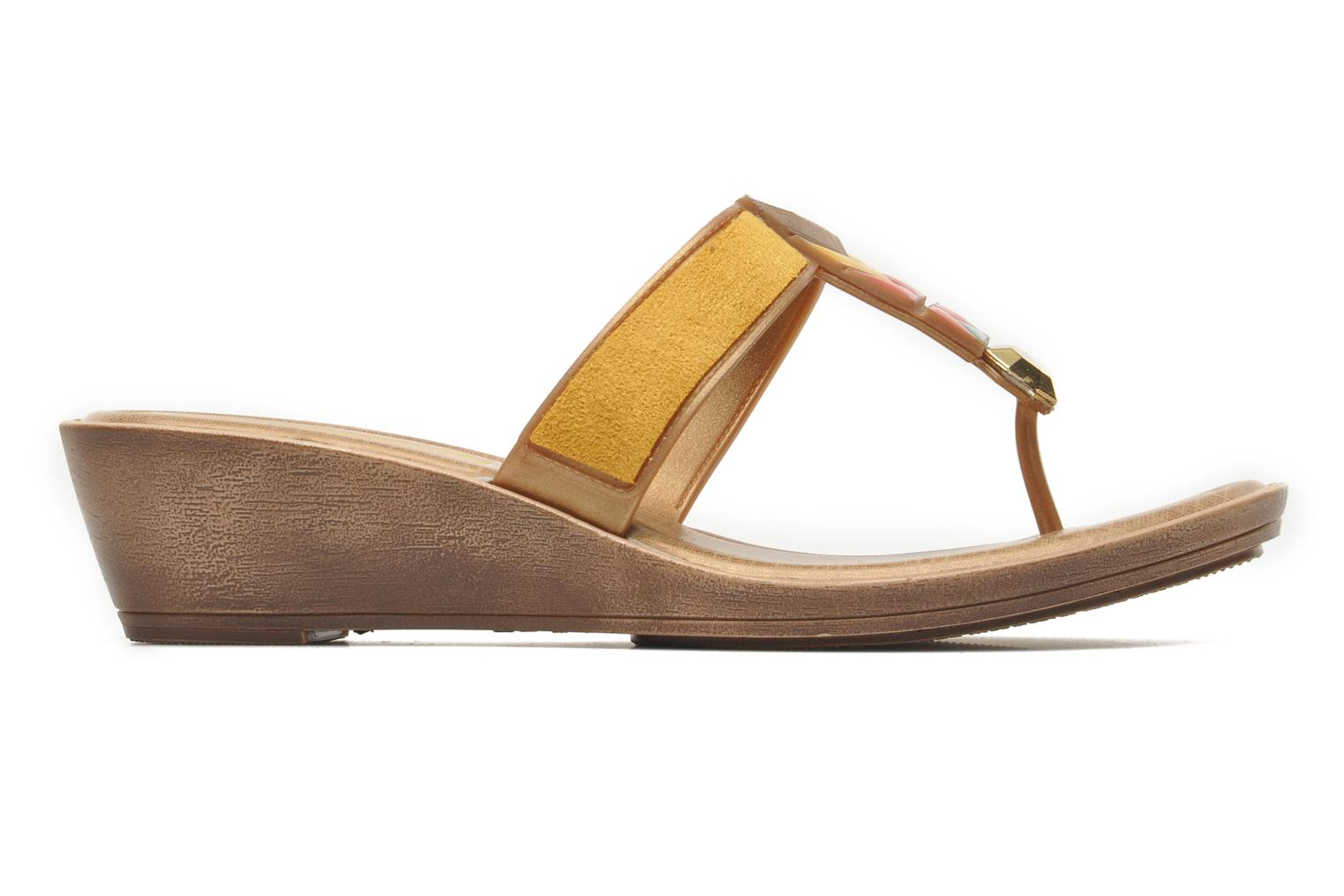 Flip flops Grendha Tesouros Wedge Yellow back view