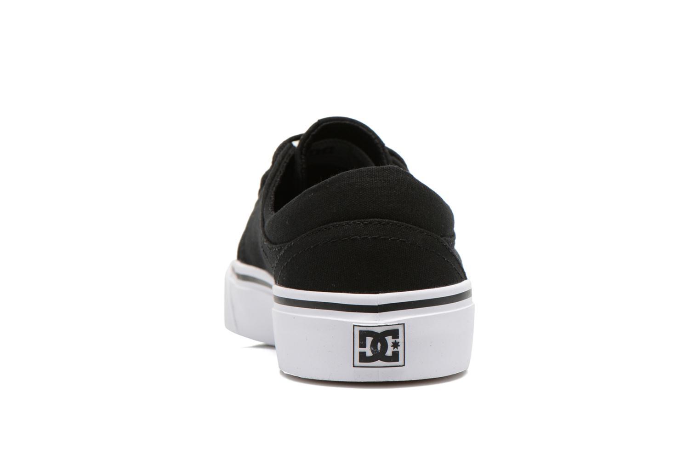 Deportivas DC Shoes Trase Tx Negro vista lateral derecha
