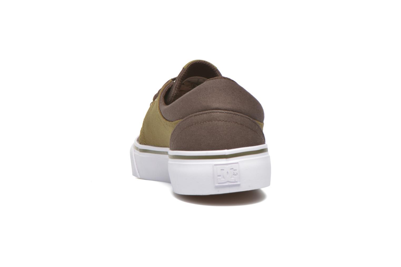 Baskets DC Shoes Trase Tx Vert vue droite