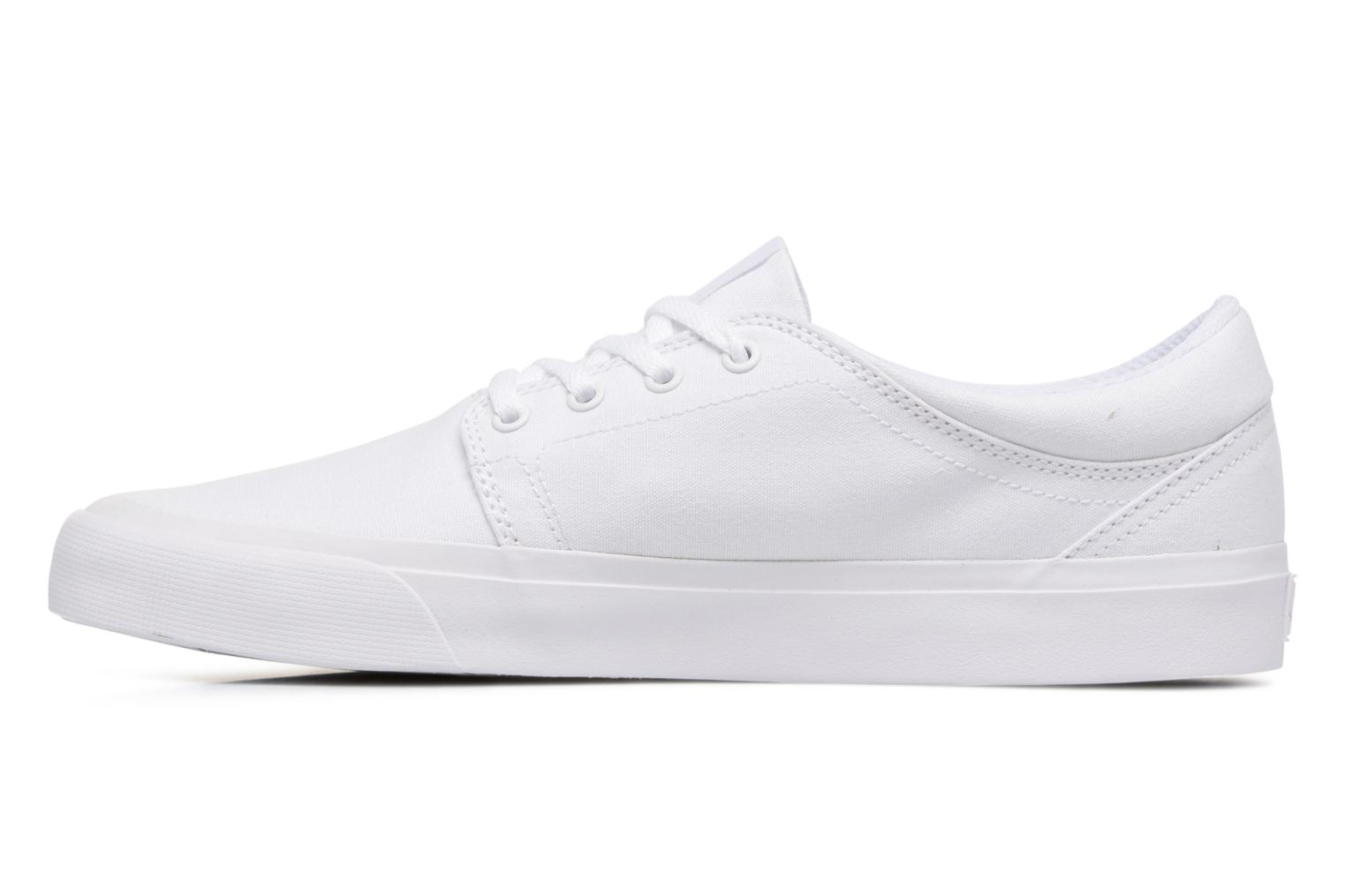 Baskets DC Shoes Trase Tx Blanc vue face