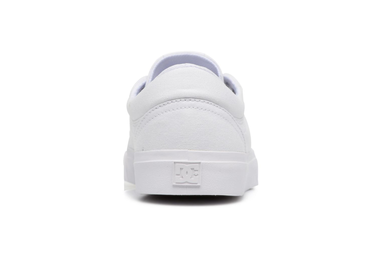 Baskets DC Shoes Trase Tx Blanc vue droite