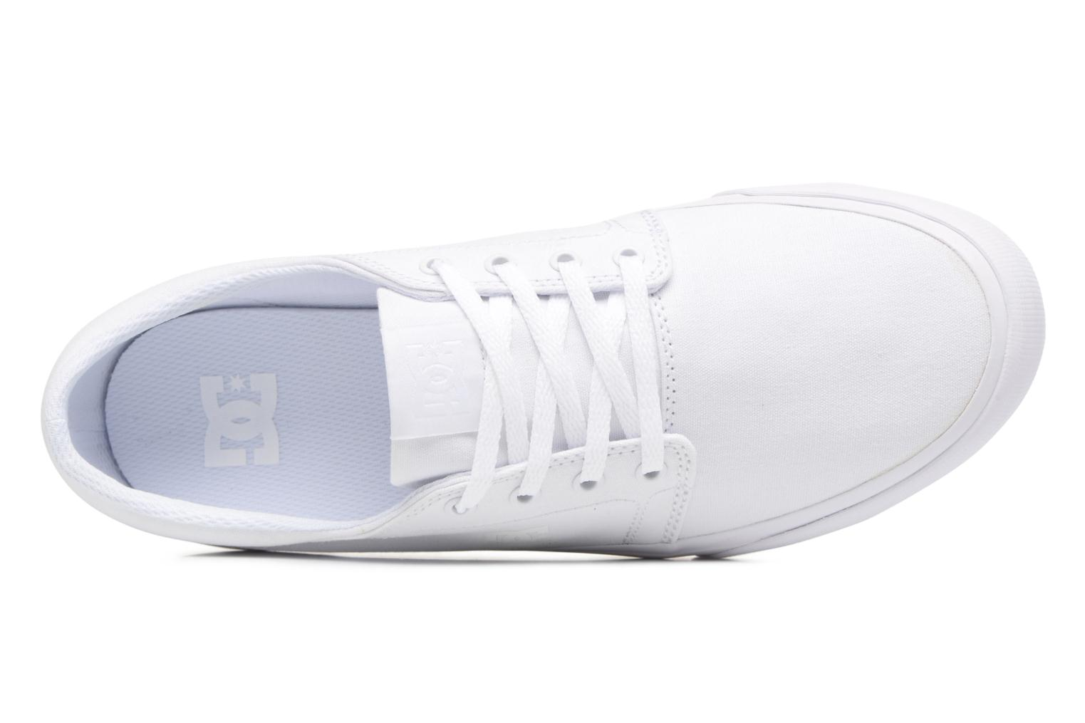 Baskets DC Shoes Trase Tx Blanc vue gauche