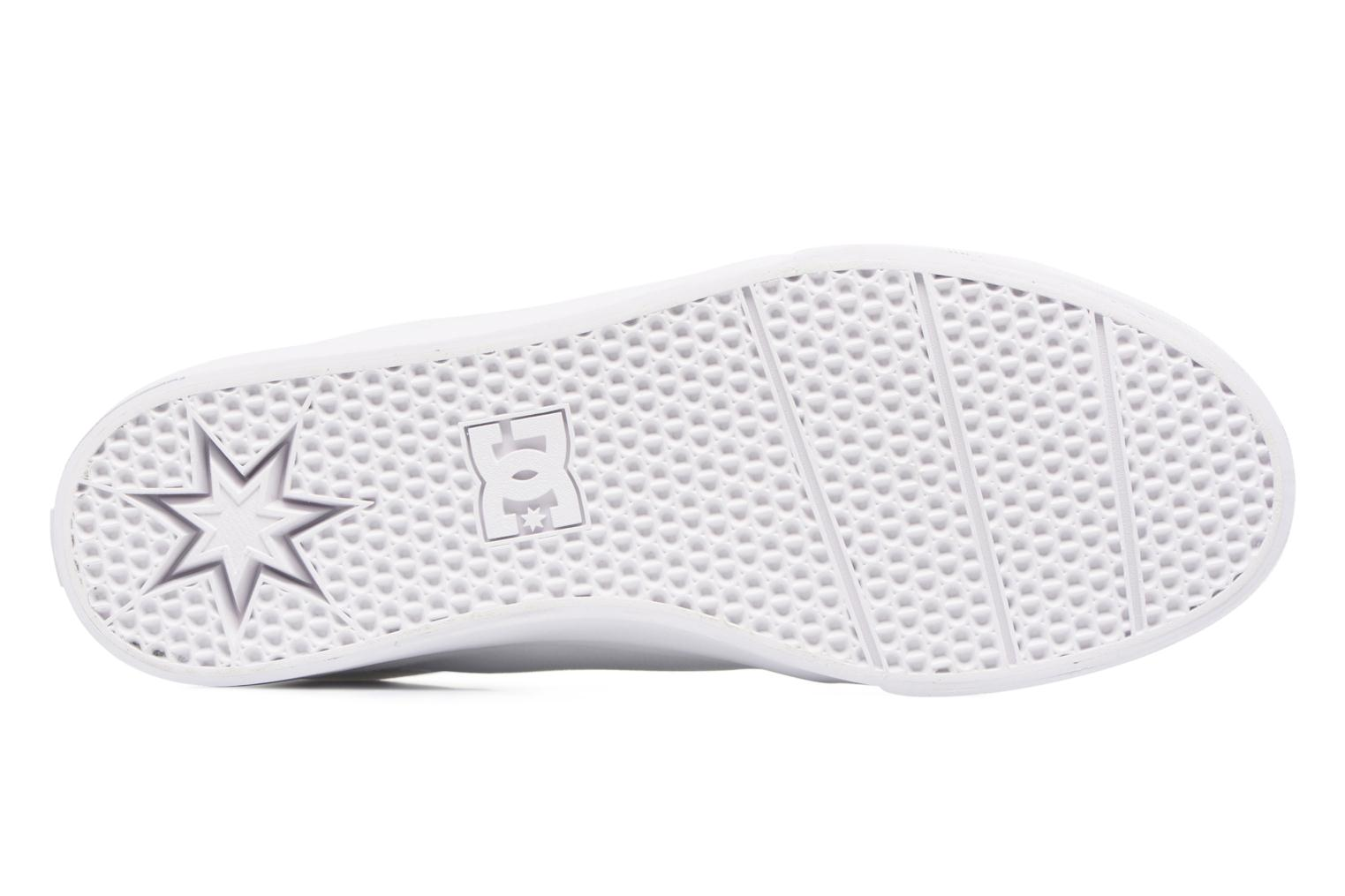 Baskets DC Shoes Trase Tx Blanc vue haut