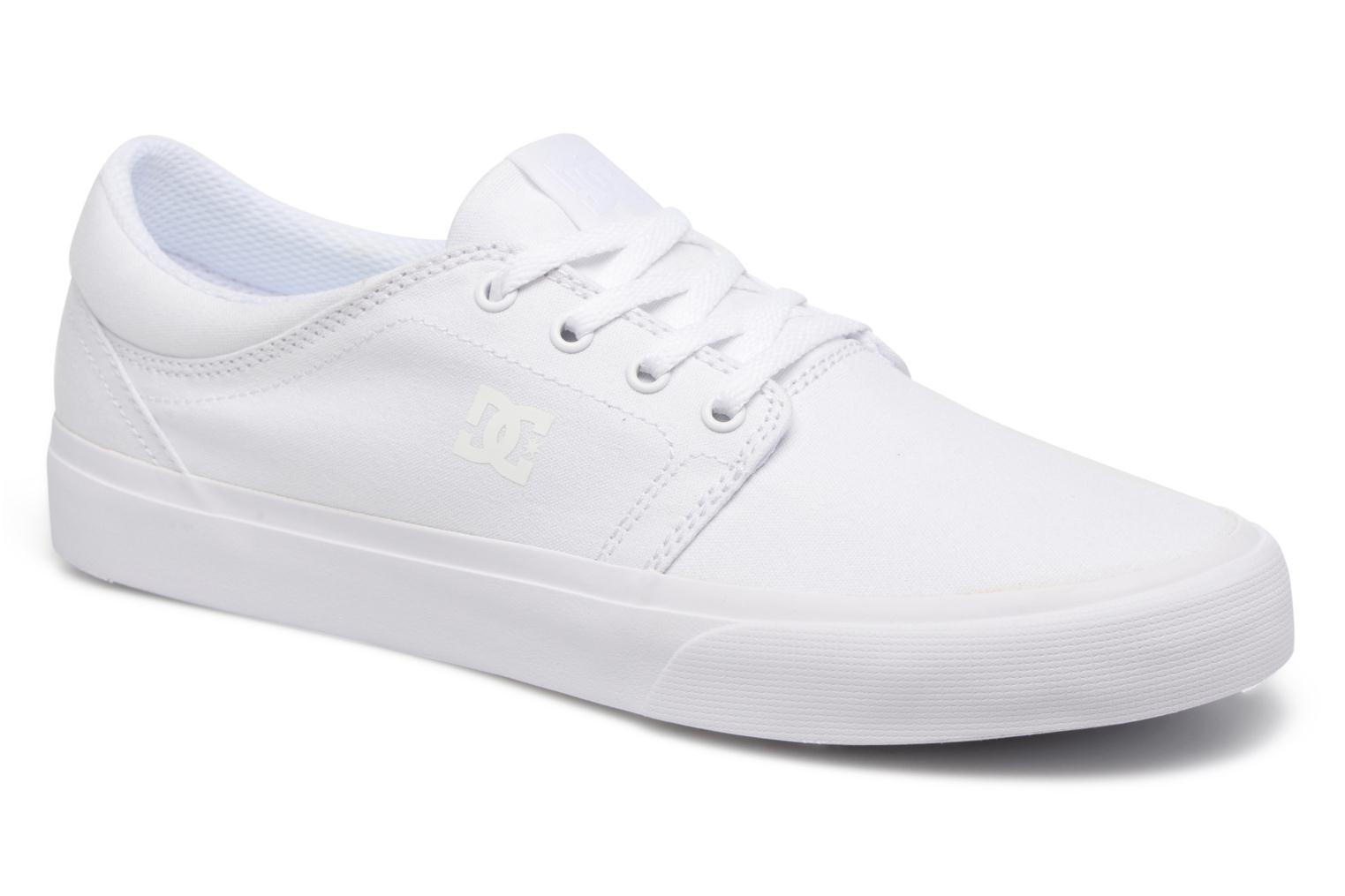 Baskets DC Shoes Trase Tx Blanc vue détail/paire
