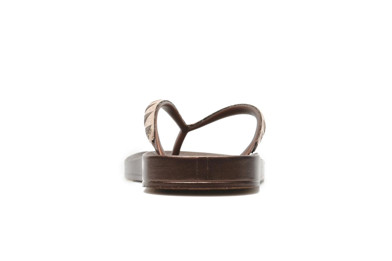 Tongs Ipanema Metalic III Or et bronze vue droite