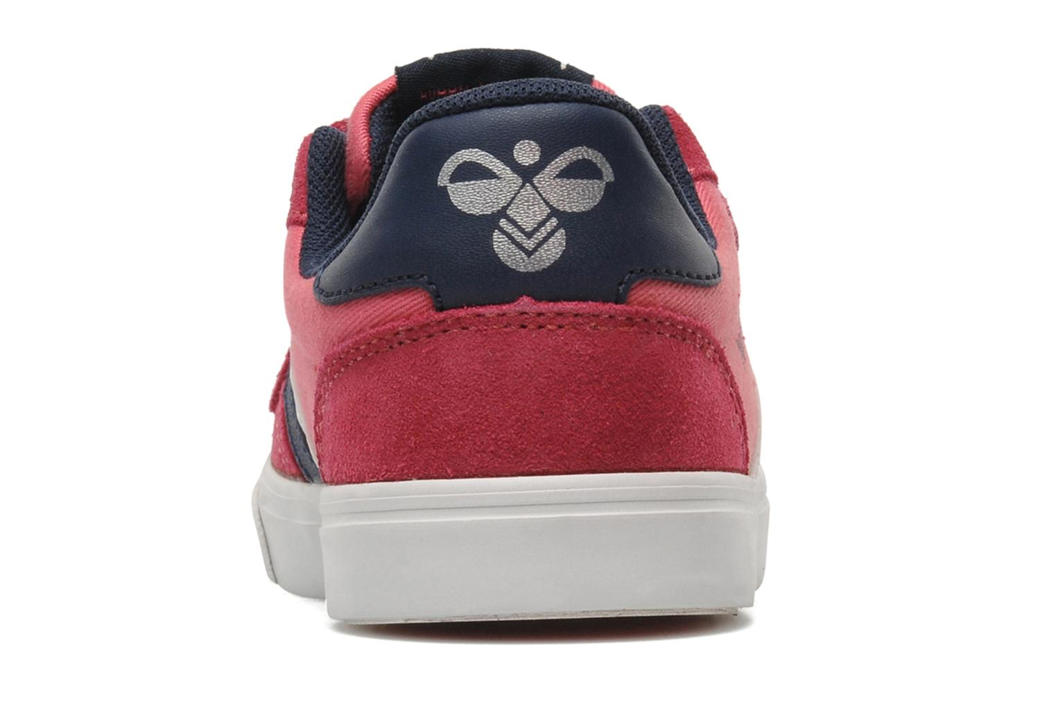 Baskets Hummel STADIL JR CANVAS LO Rose vue droite