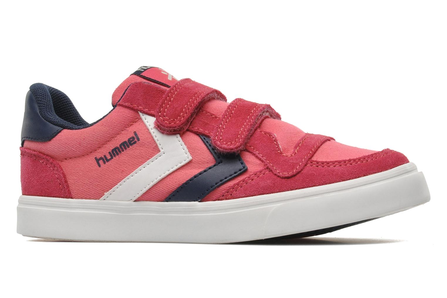 Baskets Hummel STADIL JR CANVAS LO Rose vue derrière