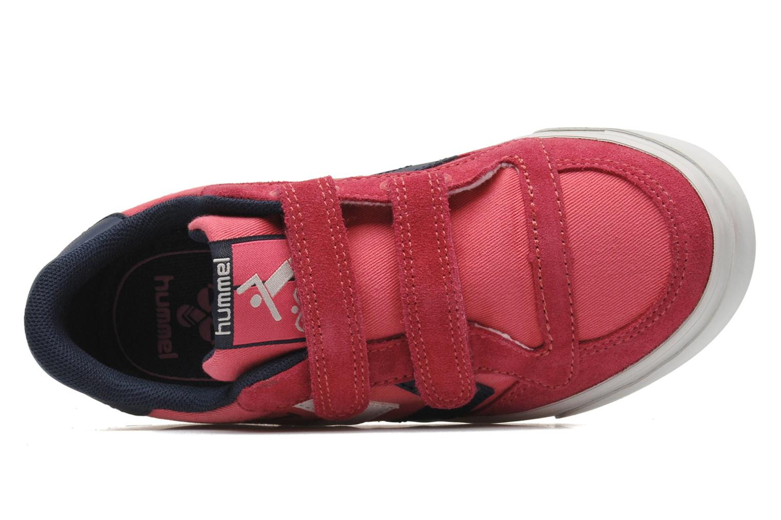 Baskets Hummel STADIL JR CANVAS LO Rose vue gauche