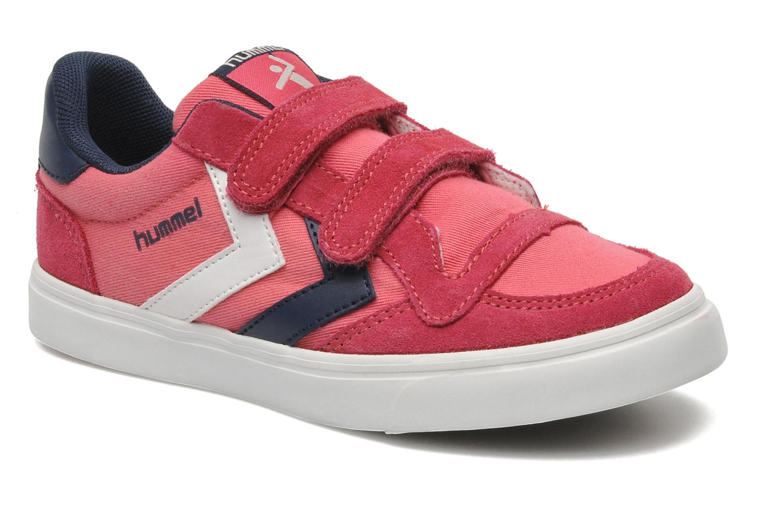 Baskets Hummel STADIL JR CANVAS LO Rose vue détail/paire