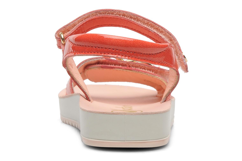 Sandales et nu-pieds Naturino Chiara 6004 Orange vue droite