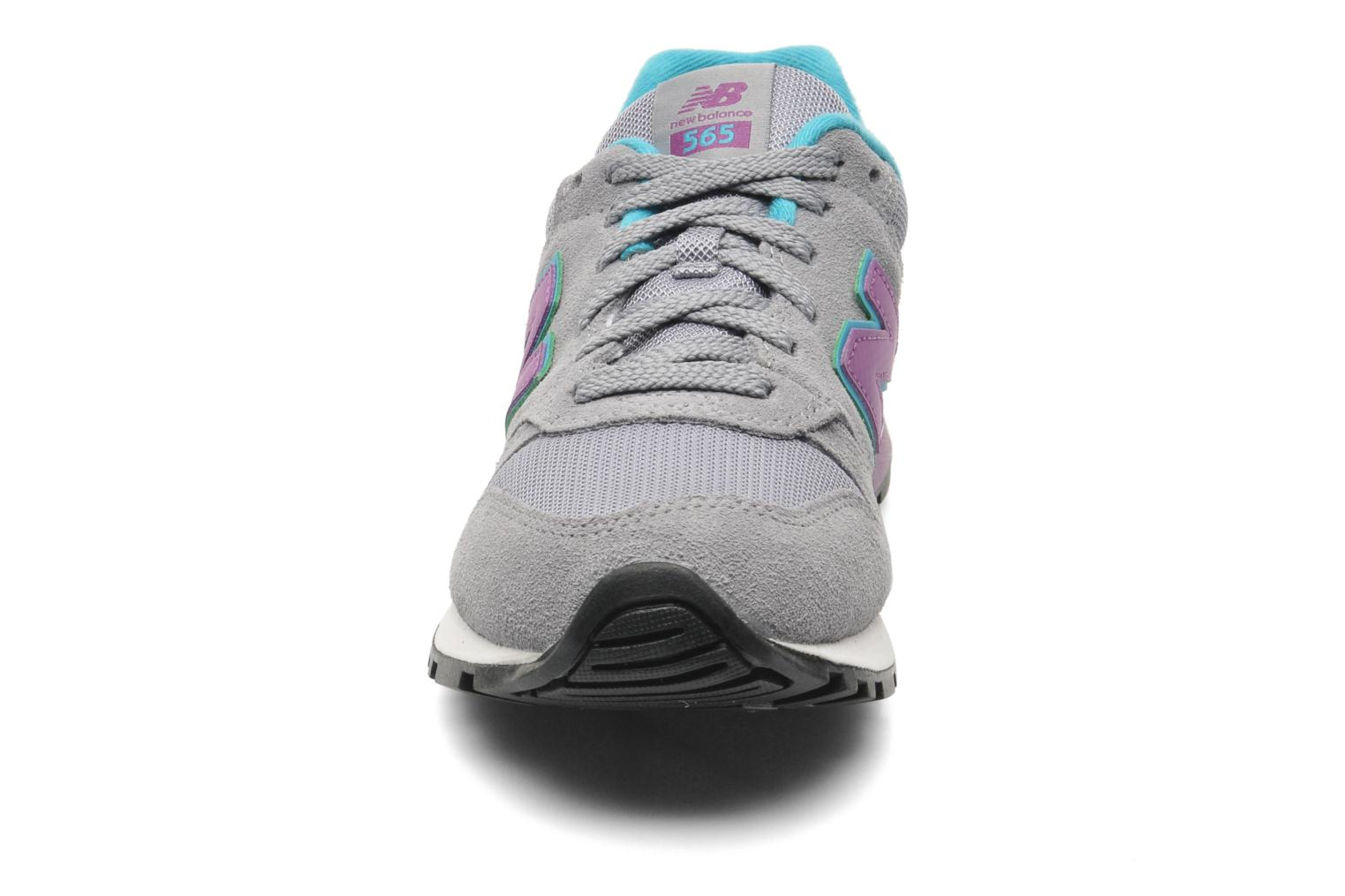 Baskets New Balance WL565 Gris vue 3/4