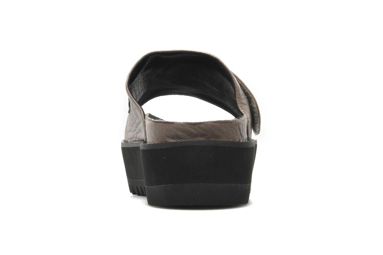 Reture Taupe pebbled leather