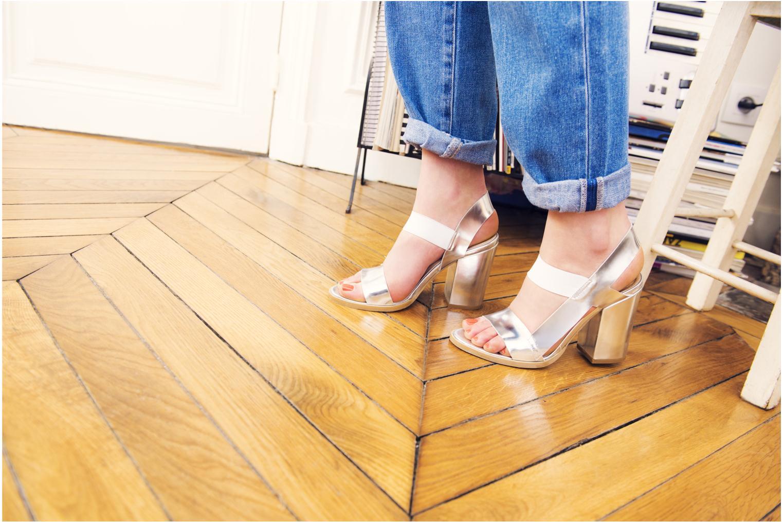 Sandalen Made by SARENZA Pool Party #4 silber 3 von 4 ansichten