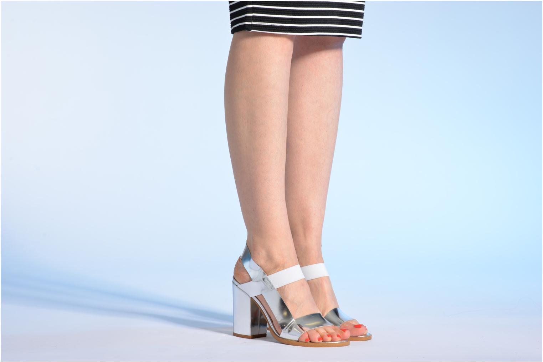 Sandalen Made by SARENZA Pool Party #4 silber ansicht von unten / tasche getragen
