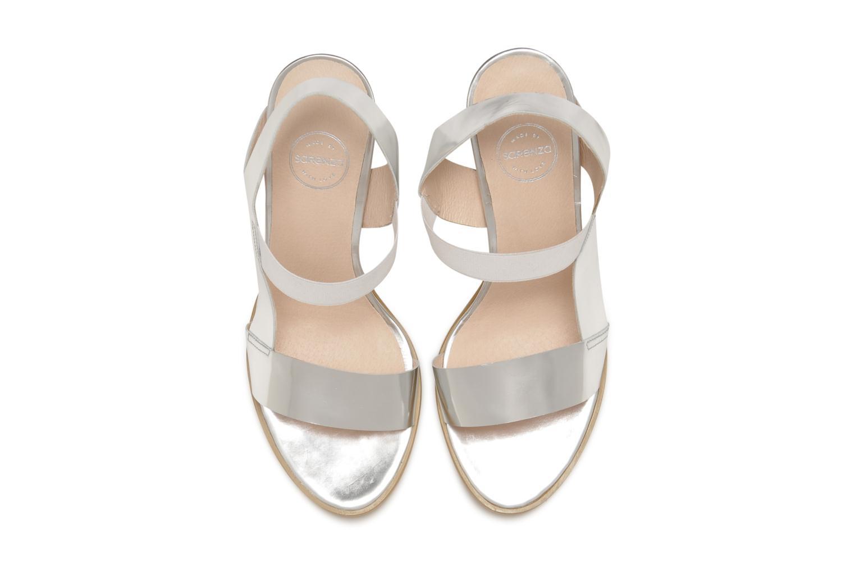 Sandalen Made by SARENZA Pool Party #4 silber schuhe getragen