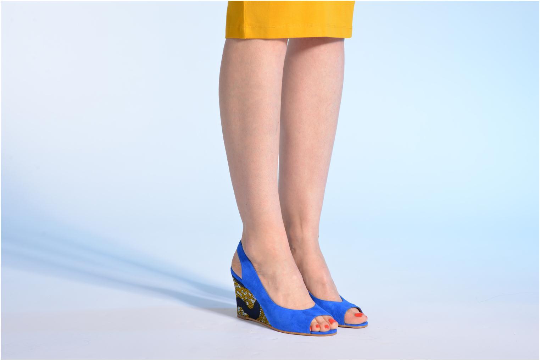 Sandales et nu-pieds Made by SARENZA Bamako #2 Bleu vue bas / vue portée sac