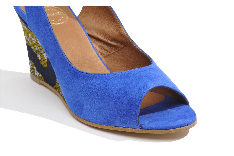 Sandales et nu-pieds Made by SARENZA Bamako #2 Bleu vue haut