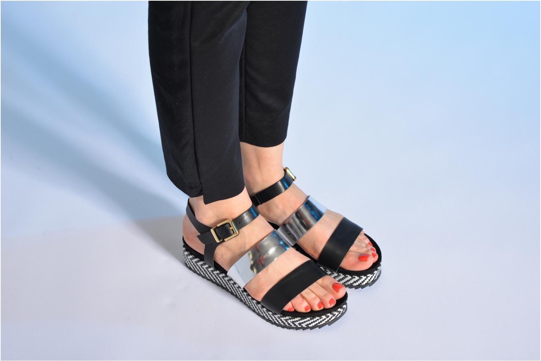 Sandales et nu-pieds Made by SARENZA Nairobi #4 Noir vue bas / vue portée sac