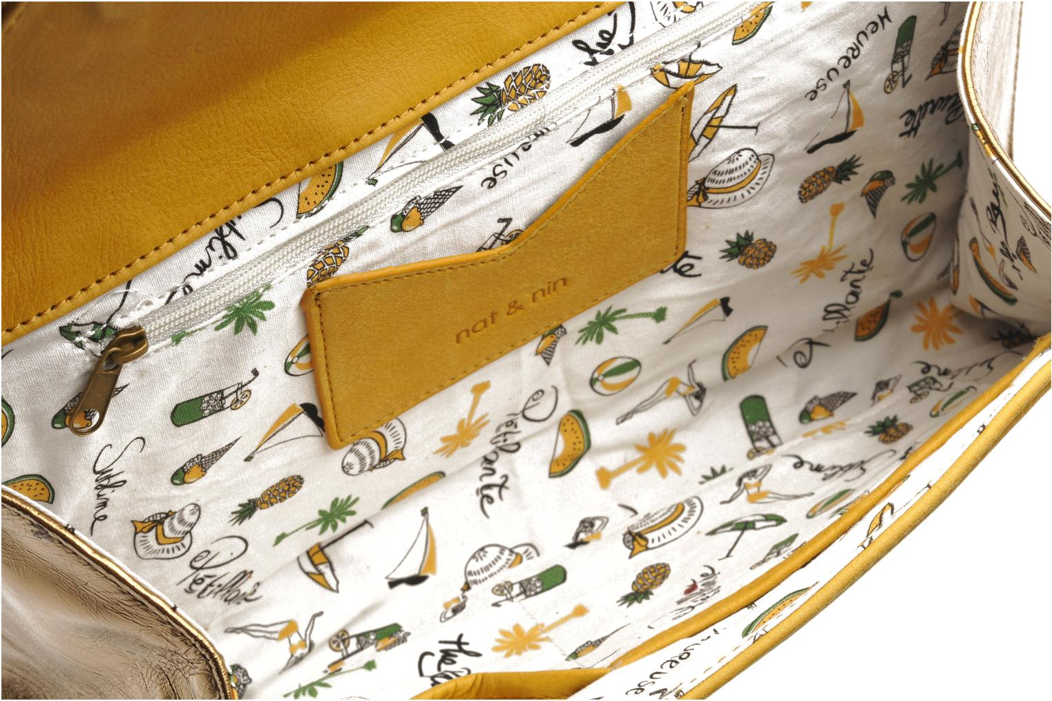 Clutch bags Nat & Nin Bastille Day Yellow back view