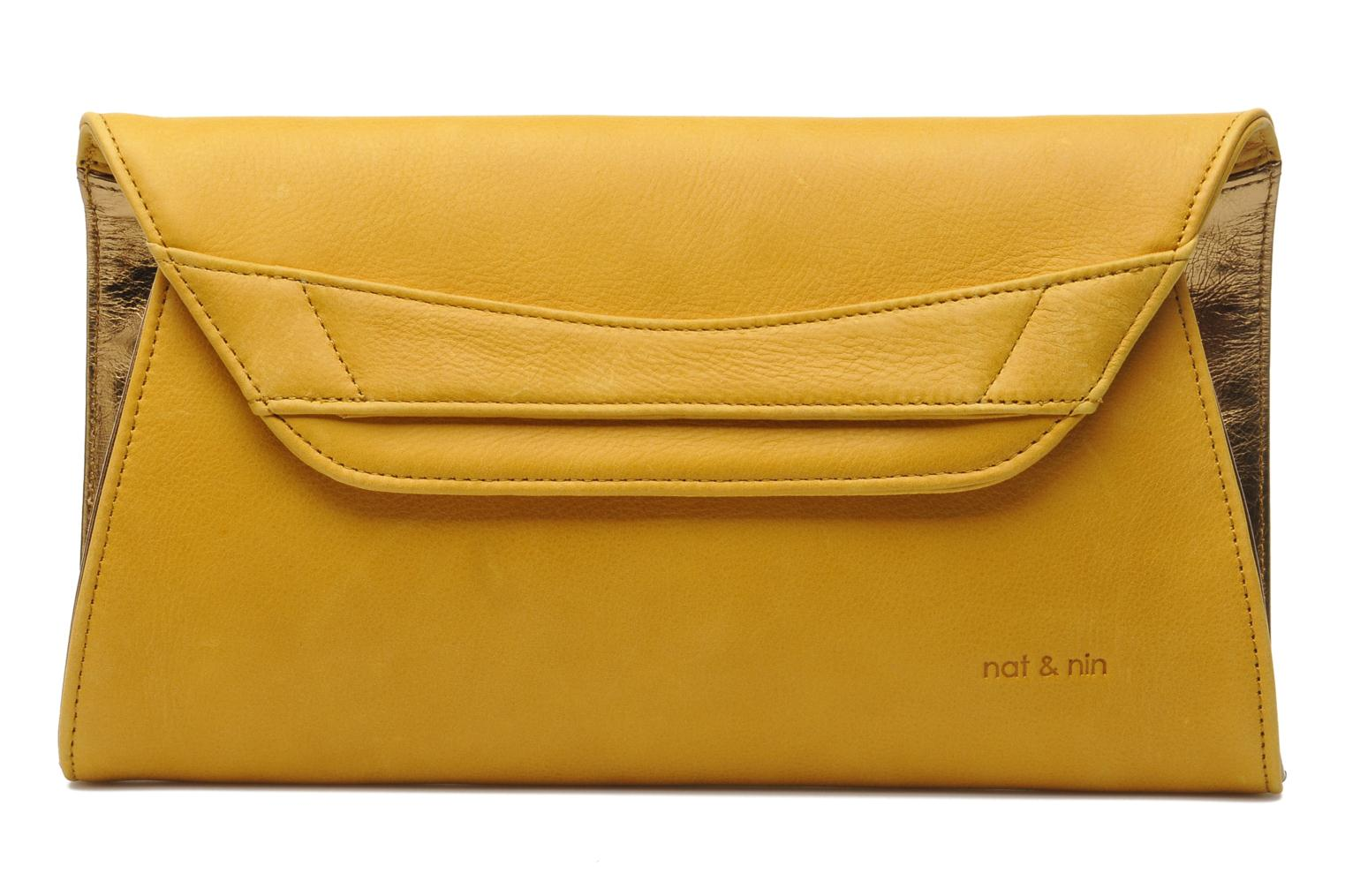 Clutch bags Nat & Nin Bastille Day Yellow detailed view/ Pair view
