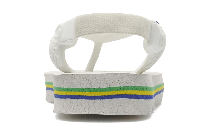 Tongs Havaianas Baby Brazil Logo Blanc vue face