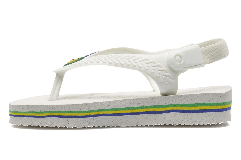 Slippers Havaianas Baby Brazil Logo Wit achterkant