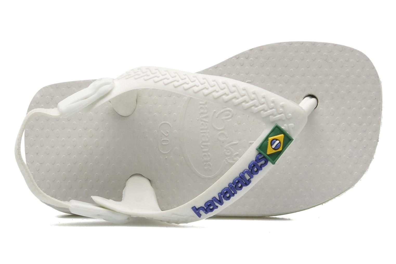 Tongs Havaianas Baby Brazil Logo Blanc vue gauche