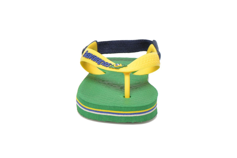 Flip flops Havaianas Baby Brazil Logo Green model view